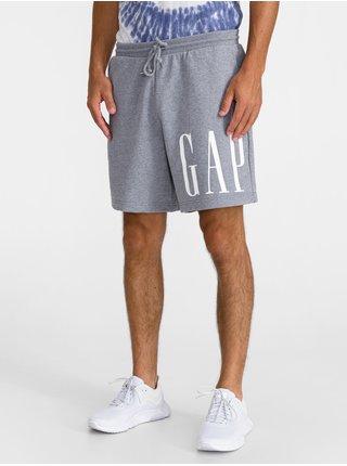 Šedé pánské kraťasy GAP Logo copr short