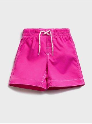Růžové klučičí dětské plavky swim trunk GAP