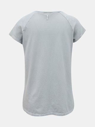 Svetlomodré dámske tričko s potlačou DEHA