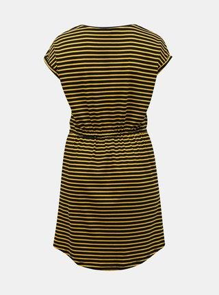 Čierno-žlté pruhované šaty ONLY CARMAKOMA