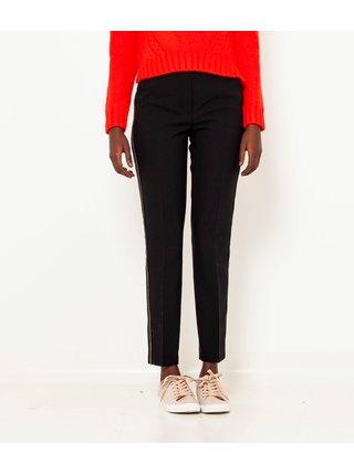 Černé straight fit kalhoty s lampasem CAMAIEU