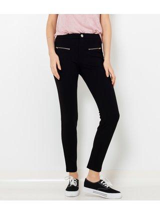 Černé slim fit kalhoty se zipy CAMAIEU