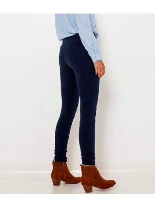 Tmavě modré skinny fit džíny s vysokým pasem CAMAIEU