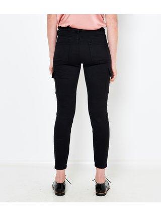 Černé zkrácené kalhoty s kapsami CAMAIEU