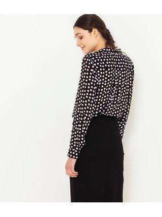 Černá puntíkovaná košile CAMAIEU