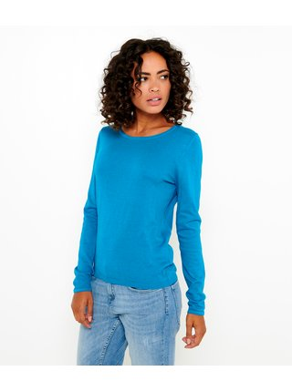 Modrý lehký basic svetr CAMAIEU