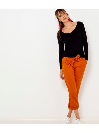 Tričká s dlhým rukávom pre ženy CAMAIEU - čierna