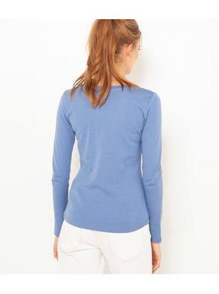 Modré basic tričko s dlouhým rukávem CAMAIEU