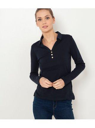 Černé tričko s límečkem CAMAIEU