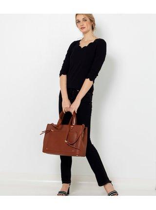 Tričká s krátkym rukávom pre ženy CAMAIEU - čierna