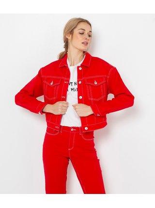 Rifľové bundy pre ženy CAMAIEU - červená