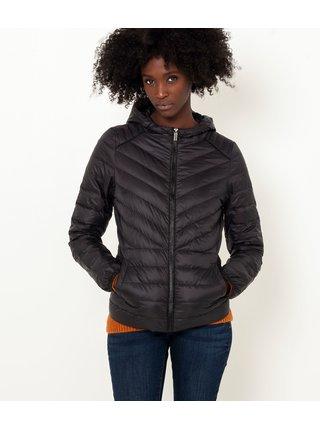 Černá zimní prošívaná péřová bunda CAMAIEU