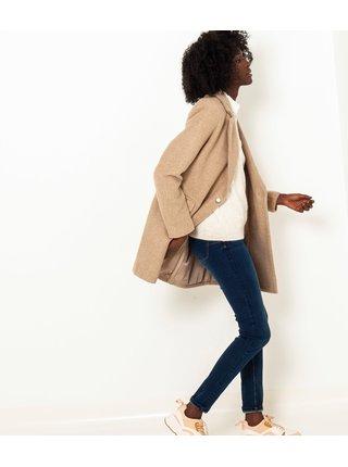 Béžový lehký kabát CAMAIEU