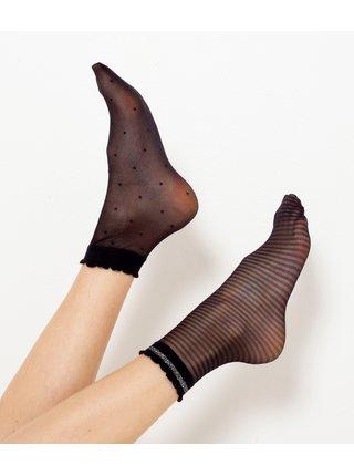 Černé punčochové ponožky CAMAIEU