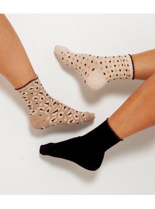 Ponožky pre ženy CAMAIEU - čierna, béžová