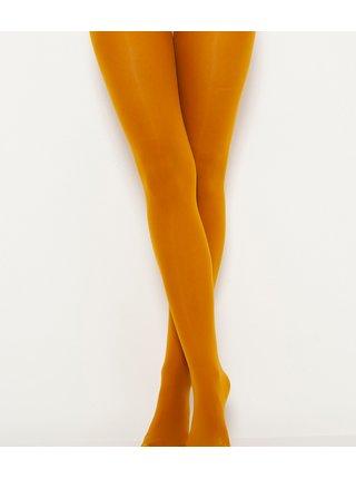 Hořčicové punčochové kalhoty CAMAIEU