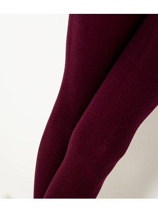 Vínové punčochové kalhoty CAMAIEU