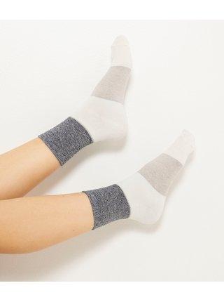 Sada tří párů ponožek v šedé a bílé barvě CAMAIEU