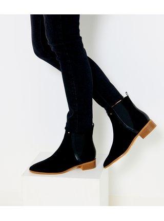 Černé chelsea boty v semišové úpravě CAMAIEU