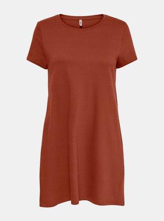 Hnedé šaty s vreckami ONLY May
