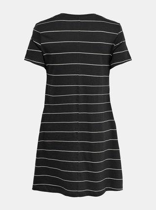 Černé pruhované šaty s kapsami ONLY May