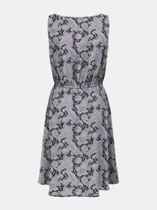 Fialovo-černé vzorované šaty ONLY Nova