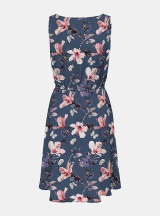 Modré květované šaty ONLY Nova