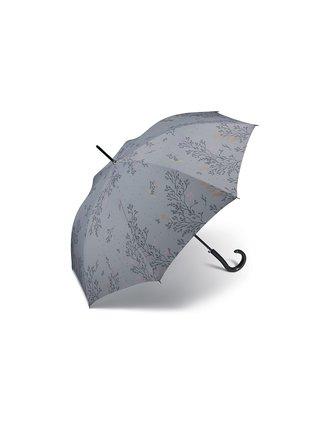 Pierre Cardin Provence dámský holový deštník - Šedá