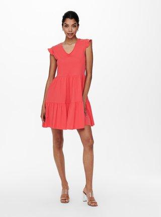 Koralové šaty ONLY May