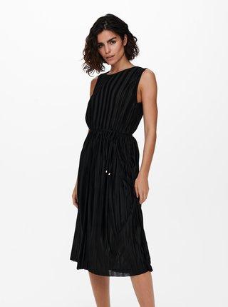 Černé plisované šaty ONLY