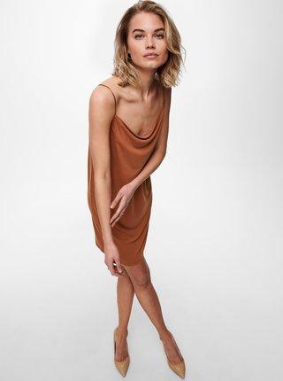 Hnedé šaty na ramienka ONLY Free