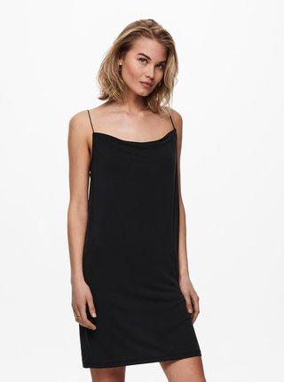 Černé šaty na ramínka ONLY Free