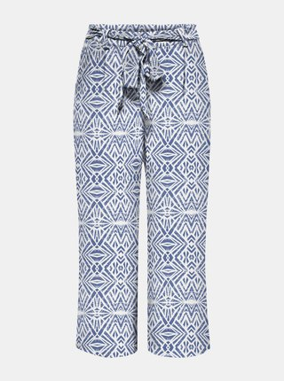 Bielo-modré vzorované culottes ONLY Nova