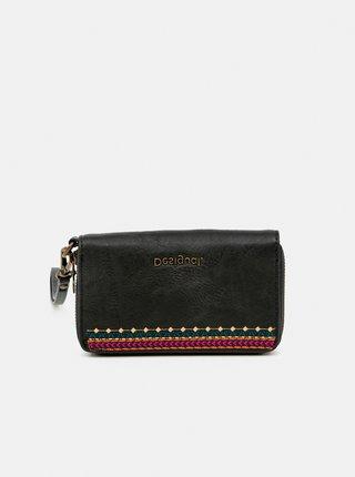 Černá vzorovaná peněženka Desigual Astoria