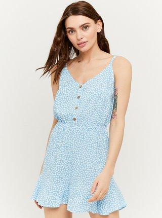 Světle modré květované šaty na ramínka TALLY WEiJL
