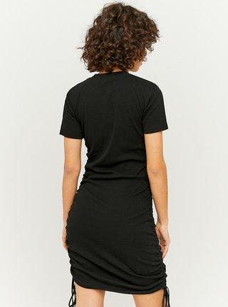 Čierne púzdrové šaty so sťahovaním na bokoch TALLY WEiJL