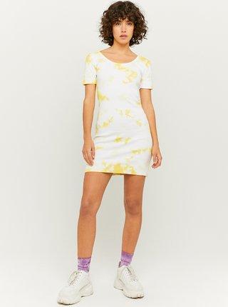 Žlto-krémové púzdrové šaty TALLY WEiJL