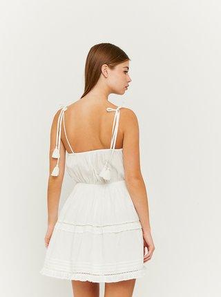 Bílé šaty s krajkovými detaily TALLY WEiJL
