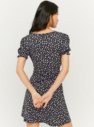 Černé květované šaty se zavazováním TALLY WEiJL