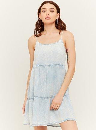 Svetlomodré rifľové šaty na ramienka TALLY WEiJL
