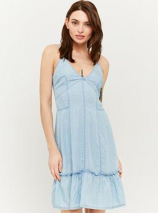 Světle modré džínové šaty na ramínka TALLY WEiJL