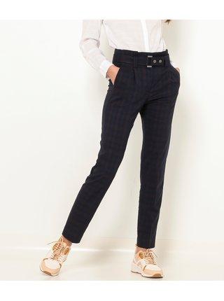 Černé kostkované kalhoty CAMAIEU