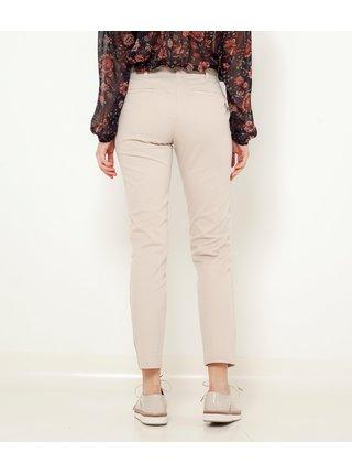 Béžové skrátené straight fit nohavice CAMAIEU