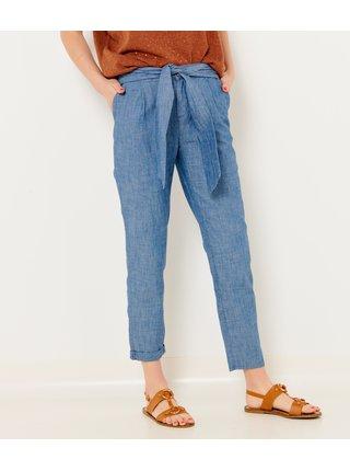 Modré zkrácené kalhoty CAMAIEU