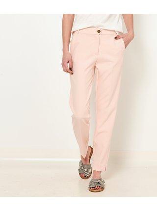 Světle růžové straight fit kalhoty CAMAIEU