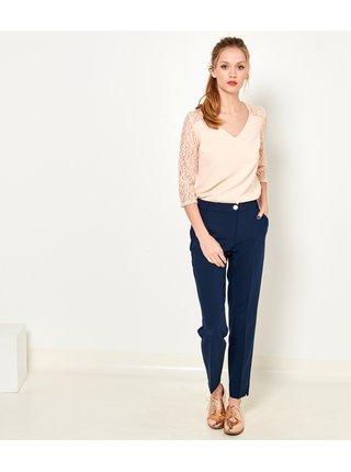 Tmavě modré straight fit kalhoty CAMAIEU