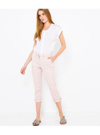 Světle růžové 3/4 slim fit kalhoty CAMAIEU
