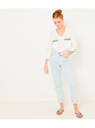 Světle modré 3/4 slim fit džíny CAMAIEU