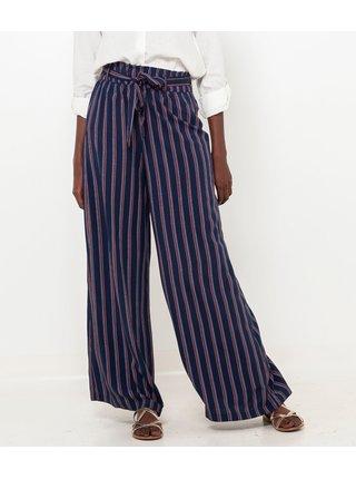 Tmavě modré pruhované kalhoty CAMAIEU