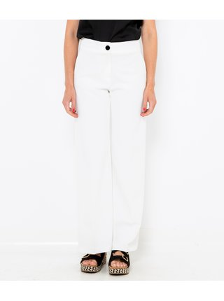 Biele straight fit nohavice CAMAIEU